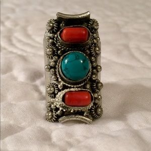 Jewelry - Rust and Green Turquoise colored Ring